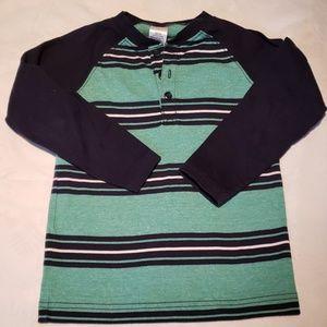 Boys Striped Long Sleeve Tee- Shirt